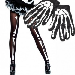 Skeleton Gloves and Tights Set