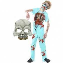 Zombie Surgeon with Half Skull Mask
