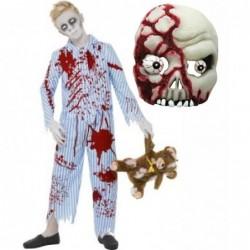 Zombie Pyjama Boy with Zombie Mask