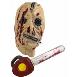Zip Face Mask with Inflatable Chainsaw