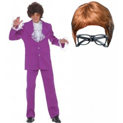 Austin Powers Suit with Wig and Glasses