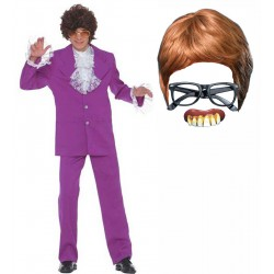 Austin Powers Suit with Wig, Glasses and Teet