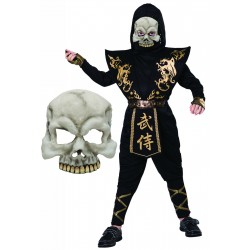 Black and Gold Ninja with Skull Mask