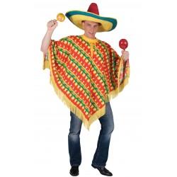 Chilli Print Mexican Poncho