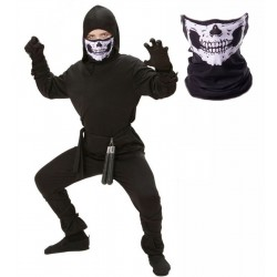 Boys Ninja Costume with Skull Mask