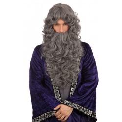 Dark Grey Wizard Wig