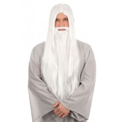 White Wizard Wig