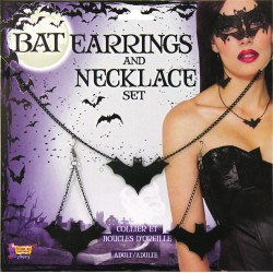 Bat Earrings and Necklace Set