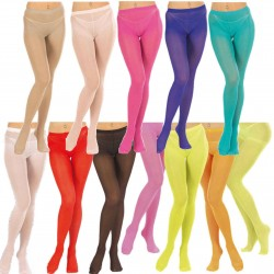 Adult Coloured Tights in 2 Sizes