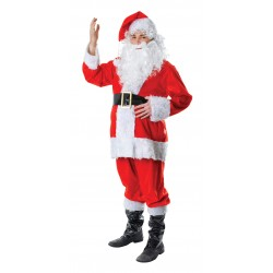 Fur 7 Piece Santa Costume