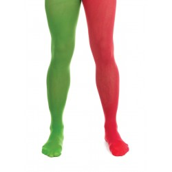 Mens Red and Green Elf Tights