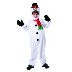Boys Big Belly Snowman Costume