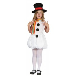 Girls Snowman Costume