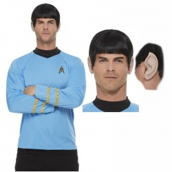 Star Trek Blue Spock Shirt Add Opt Wig and Ears