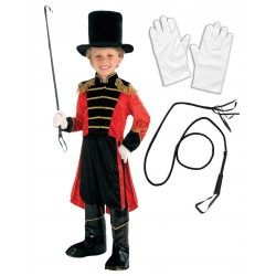 Boys Ringmaster with Opt Gloves and Whip