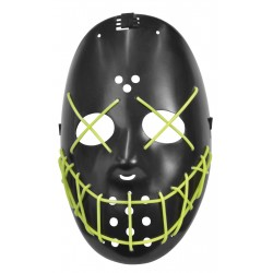 Yellow Wire Glow Halloween Mask