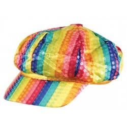 Rainbow Sequin Cap