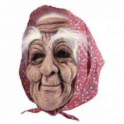 Old Woman & Headscarf Mask