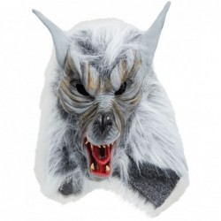 Grey Killer Wolf Mask