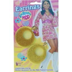 Gold Mod Swirl Ear Rings