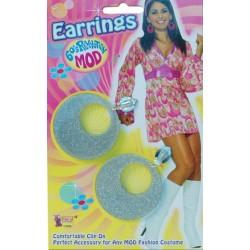 Silver Mod Swirl Ear Rings