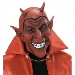 Red Smiling Devil Mask